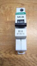 Crabtree Starbreaker 61/B16 16 Amp Tipo B Reja de desminado Gris Clip