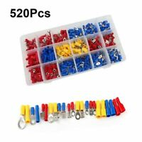 520Pcs Assorted Connector Insulated Crimp Terminals Electrical Wire Connector