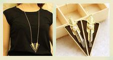 Pulover Kette Anhänger schwarz gold mit Perle Halskette 70cm
