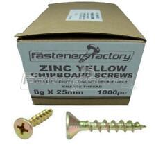 8g X 25mm Zinc Chipboard Screws 6000pc Phillips Head/countersunk - Timber/wood
