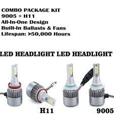 9005 + H11 6000K 2000W 300000Lm Combo Cree Led Headlight Kit High Low Light Bulb(Fits: Lincoln Aviator)