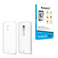 Custodia Cover Trasparente + Vetro Temperato Per Motorola Moto X Play