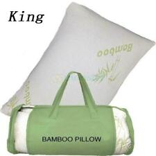 New King Hotel Bamboo Pillow Memory Foam Hypoallergenic Cool Cozy W/ Travel Bag