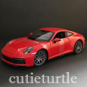 1:24 Porsche 911 Carrera 4S Diecast Model Car Red