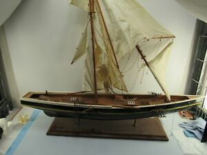 grosses Segelschiff Segelboot Modellbau Holzschiff 2-Master 120 cm