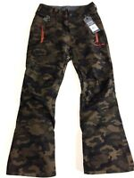 NEW VOLCOM Snowboard Pants Boy's L 'DATURA' Camo Insulated Waterproof Youth Kids