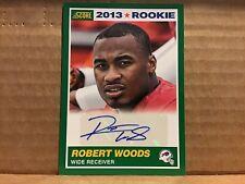 2013 Score Rookie Signatures #418 Robert Woods Rc Auto L A Rams