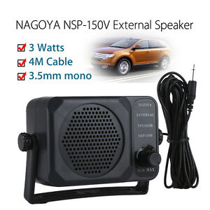 External CB Radio Speaker NSP-150V 3W Ham for Walkie Talkie Kenwood New 4M Cable