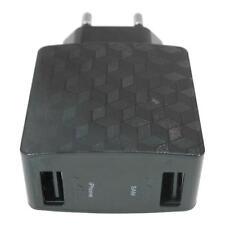 USB 3A Netzteil 2x USB Stecker Adapter für Samsung Galaxy S4 i9300 S5 SM-G900