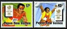 Papua New Guinea 701-702, MNH. Olympics, Seoul. Running, Weight lifting, 1988