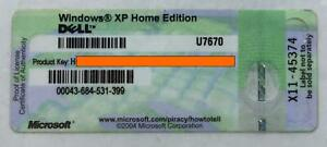 Windows XP Home license key.  Key Only no disk.  FREE POSTAGE