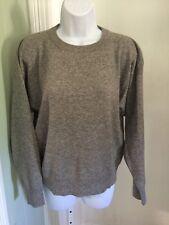 IQ Knitwear 2-Ply 100% Cashmere Gray Crew Neck XLarge
