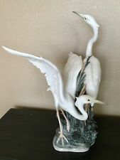 "Lladro 1319 Herons, Retail $3300 - 23"" tall, Mint Condition, Original Box"