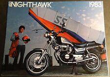 1983 HONDA NIGHTHAWK 450 MOTORCYCLE SALES BROCHURE 4 PAGES NICE  (842)