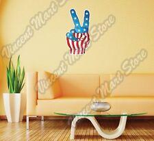 "United States USA Victory Sign Flag Wall Sticker Room Interior Decor 18""X25"""