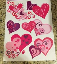 Valentines Day Heart Window Clings Happy Val Double Heart Wreath Swag Pick Gift
