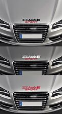 'AUDI SPORT' Bonnet  VINYL CAR DECAL STICKER  Fits A3 A4 TT QUATTRO 300mm long