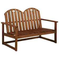vidaXL Solid Acacia Wood 2-Seater Garden Sofa Bench Outdoor Furniture Seat