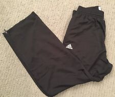 ADIDAS Sz L Large Charlotte Hornets Basketball Player ID Black Pants Zip Ankle
