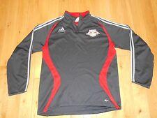 Adidas New York Red Bulls Mls Soccer Long Sleeve Pullover Warm Up Shirt Mens Lg