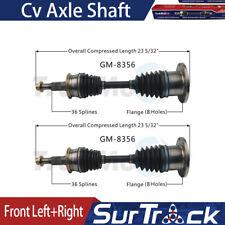 Front X2 Left+Right SurTrack CV Axle Shaft Fits 2015-2016 GMC Sierra 3500 HD