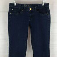 Mossimo Premium womens size 6 x 32 stretch dark wash low rise flare denim jeans