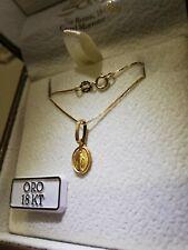 Collana veneziana e ciondolo madonnina miracolosa in oro giallo 750 18 kt