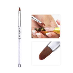BORN PRETTY Nail UV Gel Brush Painting Nail Brushes White Rhinestone Handle Pen
