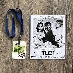 TLC Concert Backstage Pass autographed Signed Promo photo Lisa Left Eye Lopes