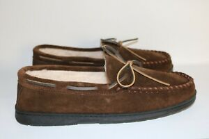 Men's Sperry Slip-On Trapper Moccasin Slippers Chocolate Color Size 11 New