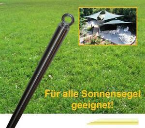 300 cm Edelstahl Sonnensegelmast mit V2A Bodenhülse!! 3m Pfosten Halter Stange
