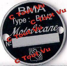PLAQUE CONSTRUCTEUR MOTOBECANE BMA B1V2 - VIN PLATE MOTOBECANE BMA B1V2