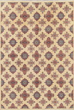 NEW Art & Craft Chechen-Kazak Hand-Knotted Vegetable Dye Oriental IVORY Rug 7x10