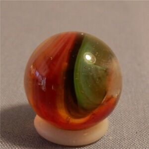 "Akro Agate Popeye marble. Red/Green/Black. 5/8"". Mint."