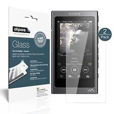 2x Sony Walkman NW-A35 Pellicola Protettiva Protezione Vetro Flessibile 9H dipos