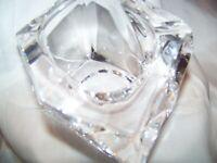 Vintage Signed Daum France Crystal Sculpture Holder or Display Piece