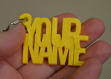 Personalised Rubber Keyring Name And Surname Novelty Keychain Key fob Tags