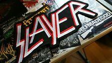 Slayer Shape Logo Patch Backpatch XXL Thrash Metal  666