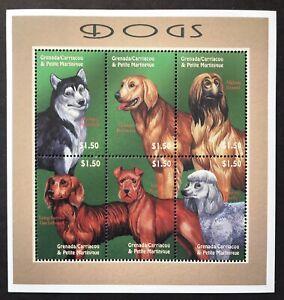 GRENADA DOG STAMPS SHEET 6v 2000 MNH DOGS DACHSHUND TERRIER POODLE AFGHAN PETS