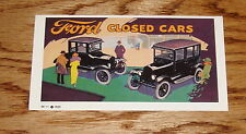 1923 Ford Closed Cars Service Sales Brochure Model T 23