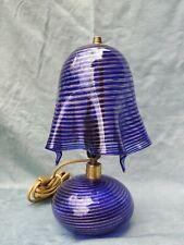MURANO vintage lampada stile VENINI SEGUSO POLI PONTI pied de lampe lamp 28 cm