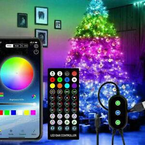 Christmas Tree Decoration Lights ws2812b sk6812 IC LED String Lamp Bluetooth App