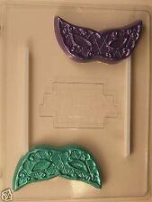 MARDI GRAS MASQUERADE CARNIVAL LOLLIPOP CLEAR PLASTIC CHOCOLATE CANDY MOLD LP022