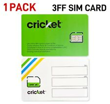 *BRAND NEW!* Cricket Wireless 4G LTE Micro (3FF) SIM Card