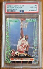 1992 Stadium Club Michael Jordan BEAM TEAM #1 PSA 8 NM-MT Bulls GOAT