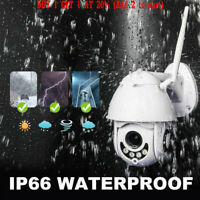 Outdoor Waterproof WiFi PTZ Pan Tilt 1080P HD Night Vision IP IR Security Camera