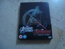 THE AVENGERS + AGE OF ULTRON *rare*oop 4Disc 3D DOUBLE FEATURE Blu-Ray SteelBook