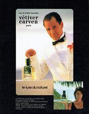Publicité Advertising 107 1984   eau toilette homme Vétiver par Carven