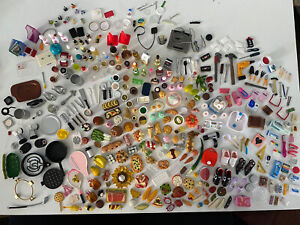 350 Re-Ment Miniatures Lot Food Tools Kitchen Bathroom Dishes Japanese Dollhouse