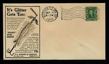 1905 Pearl Minnow Bass Lure Featured on Collector's Envelope *OP545